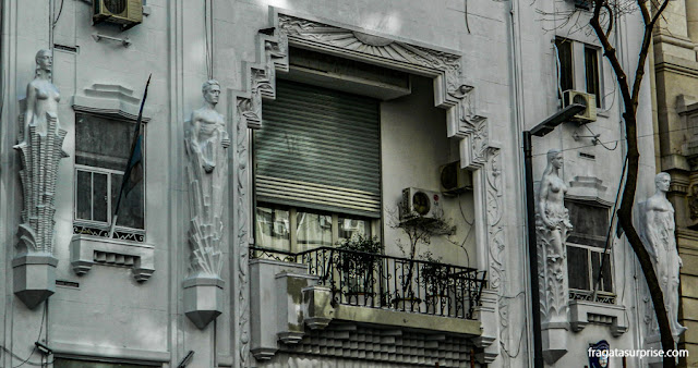 Antiga sede do jornal Crítica, edifício art-déco na Avenida de Mayo, Buenos Aires