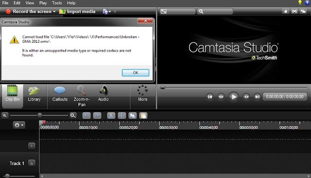 Camtasia Studio 8 Codec