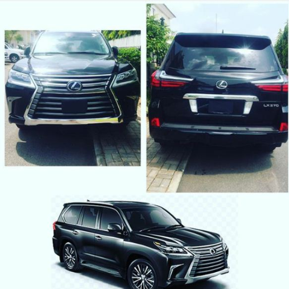 TONTOH DIKE'S HUSBAND CHURCHILL SURPRISES HER WITH 2017 LEXUS JEEP (SEE PHOTOS)