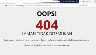 cara mengatasi link blog yang error