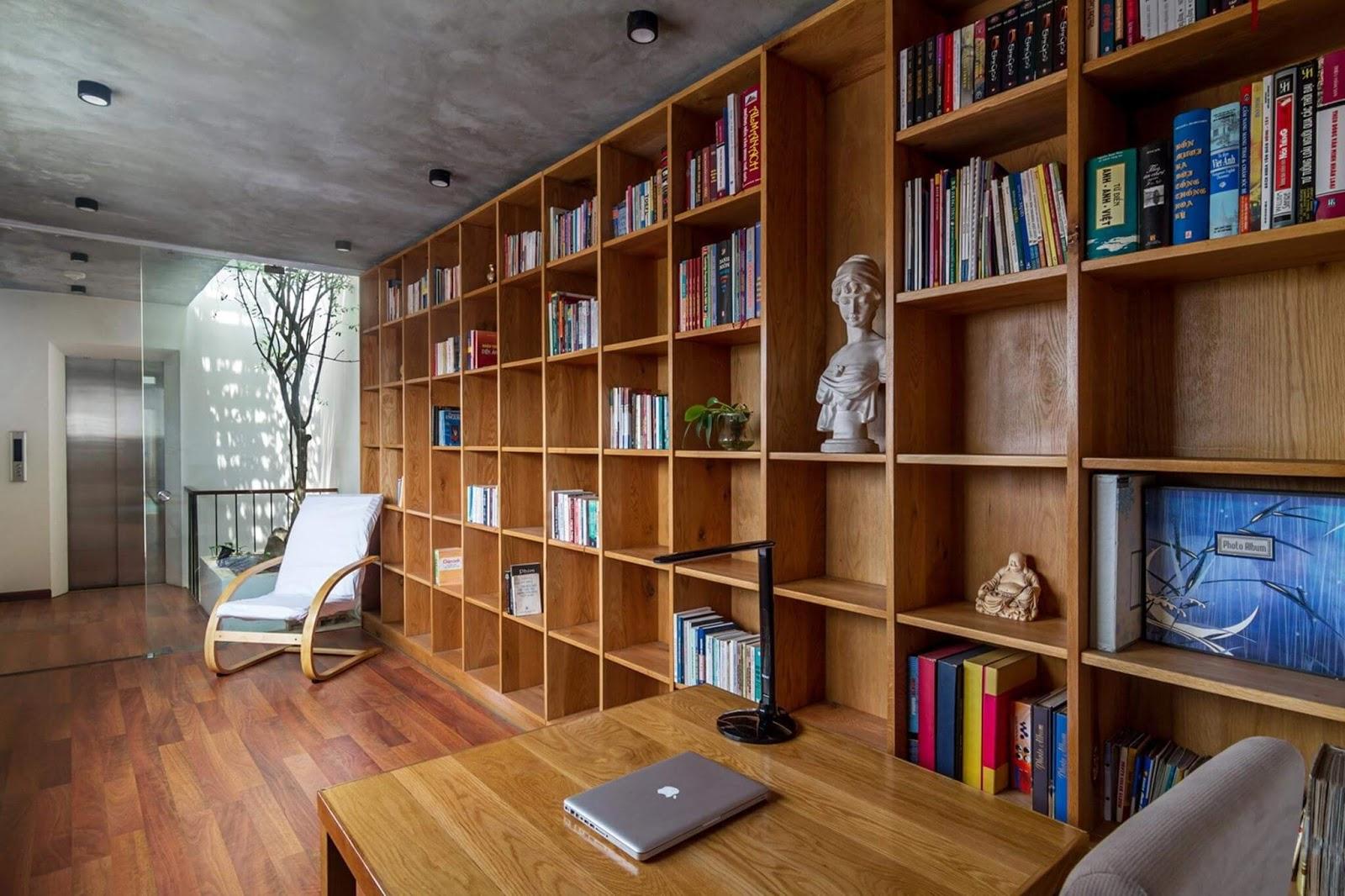 Bố trí phòng đọc sách theo phong thủy.