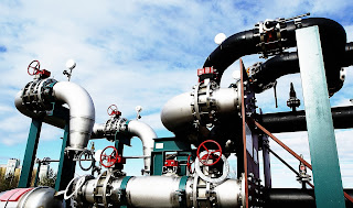 steel industrial piping and valves