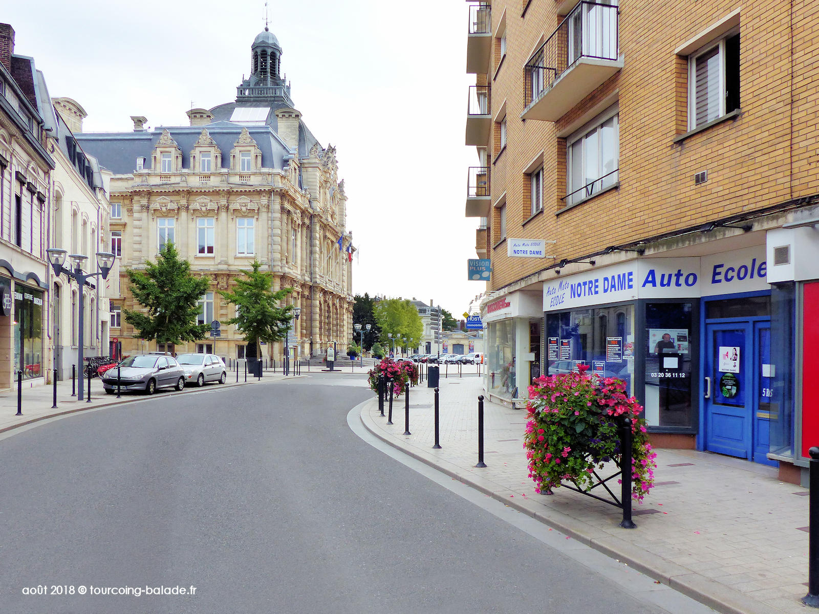 Rue Nationale et Mairie, Tourcoing 2018