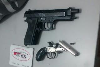 Dupla é baleada após perseguição policial e troca de tiros em Patos