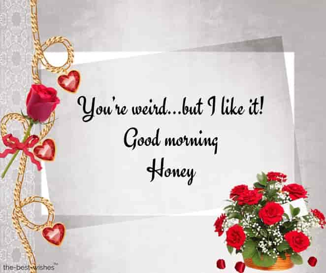 good morning honey love images