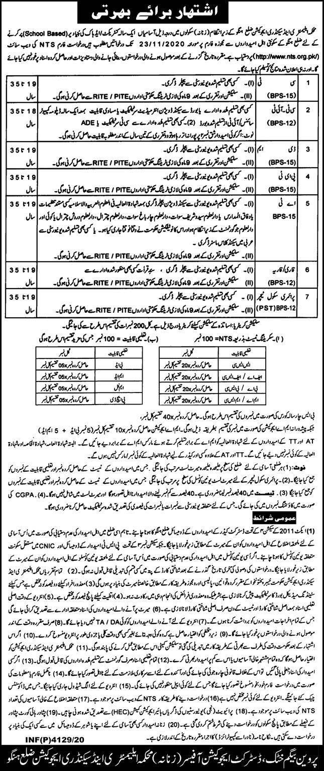 NTS Educators Jobs 2020, Application Form - www.nts.org.pk