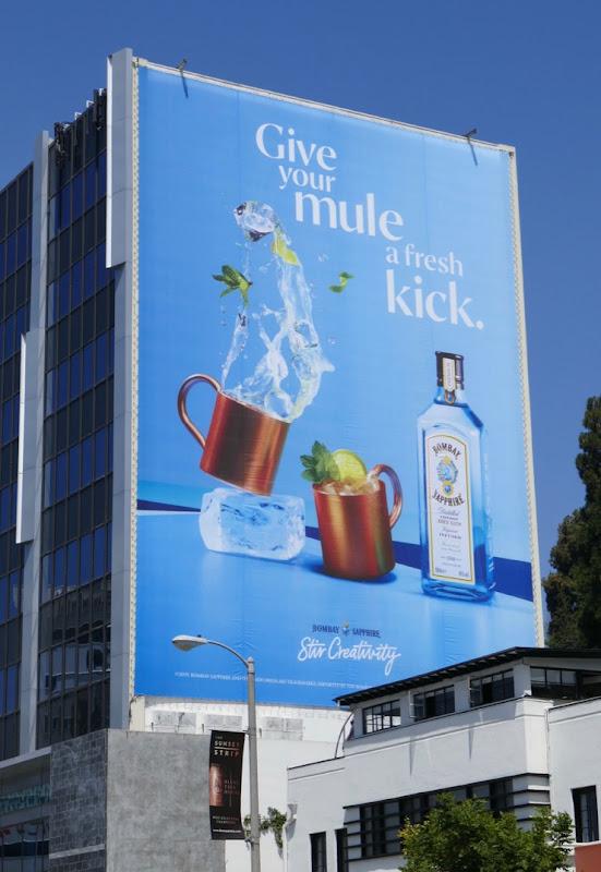 Mule fresh kick Bombay Sapphire gin billboard