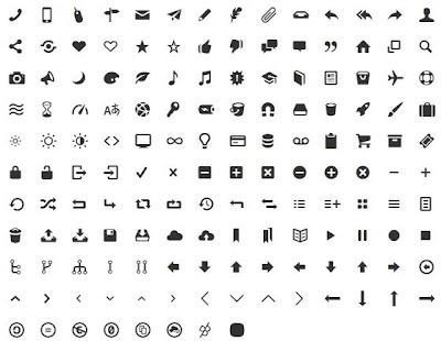 Tipografías de iconos