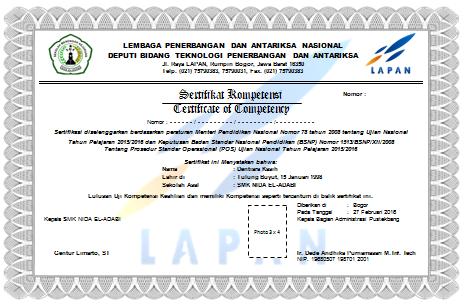 Petunjuk Teknis Cara Pembuatan dan Penulisan Nomor Sertifikat Uji Komptensi Keahlian SMK (Ujikom)