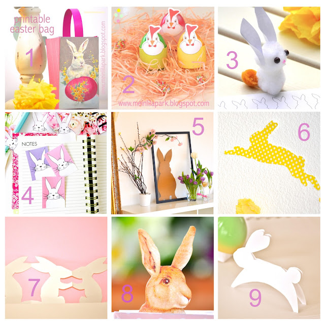 Free Easter printables + DIY ideas – Osterbasteln – round-up
