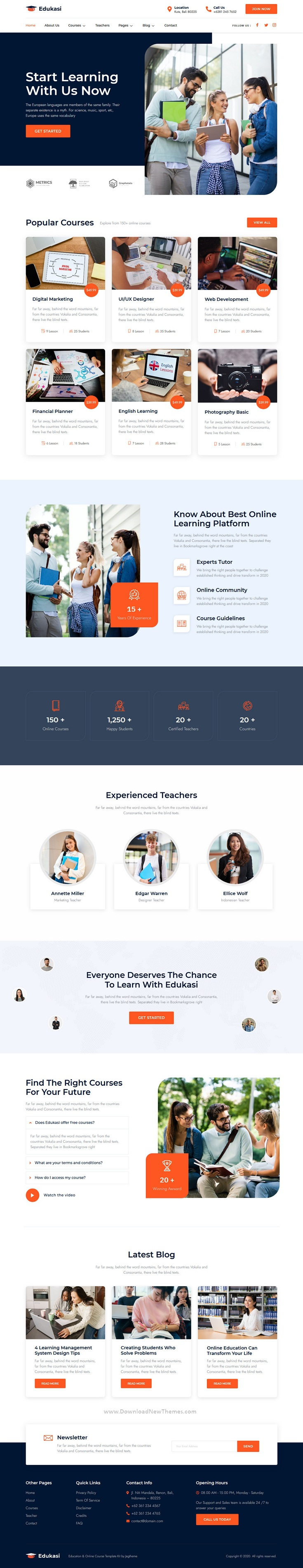 Education and Online Course Elementor Template Kit