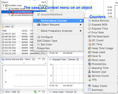 context menu for scouter's performance counter