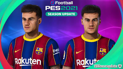 PES 2021 Faces Philippe Coutinho by Lucas