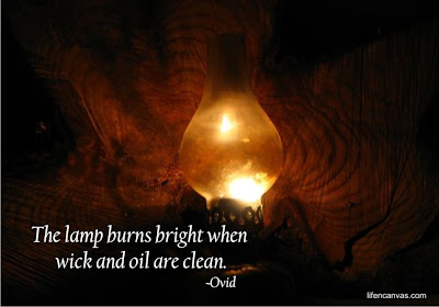 the lamp burns bright