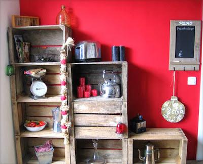 d co fait main r cup de palettes de cagettes pour construire des meubles. Black Bedroom Furniture Sets. Home Design Ideas