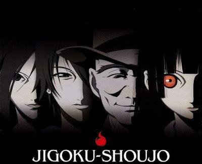 Imagem de divulgação do anime Jigoku Shoujo.