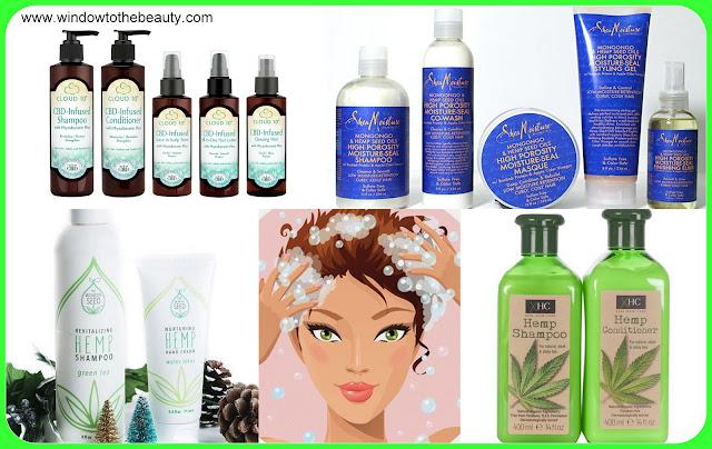 CBD oil szampony i odżywki do włosów