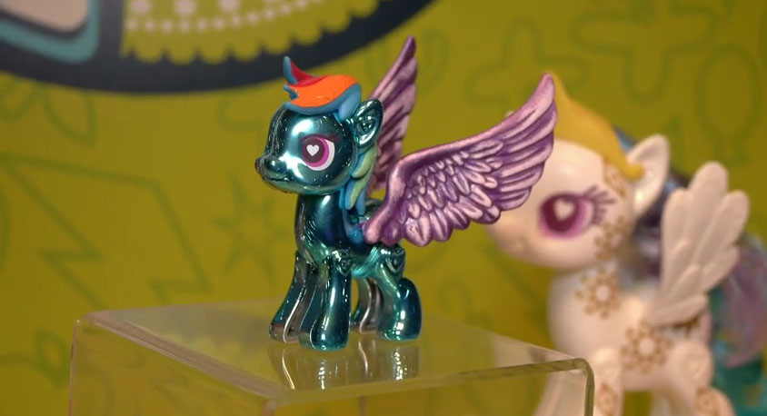 Metallic Rainbow Dash POP Pony at NY Toy Fair 2015