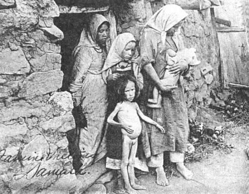 Семья страдающая от голода, 1922 год