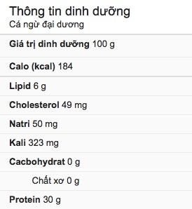 dinh dưỡng cá ngừ
