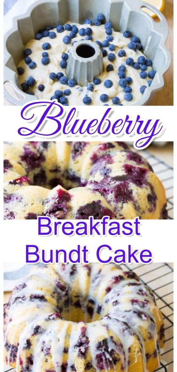 Delicious Blueberry Breakfast Bundt Cake