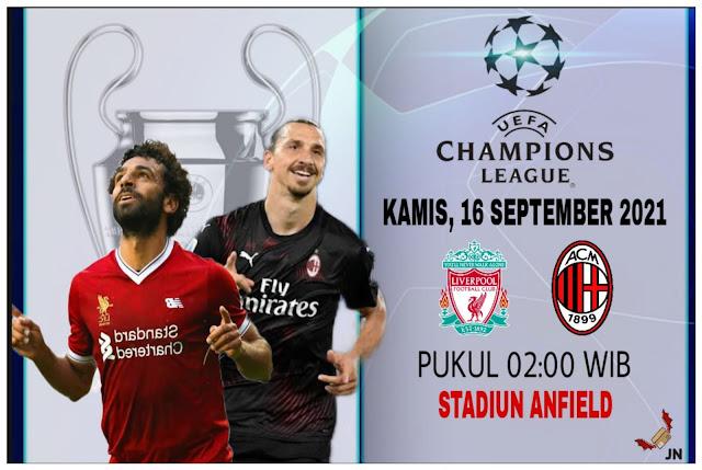 Prediksi Liga Champions Liverpool vs AC Milan