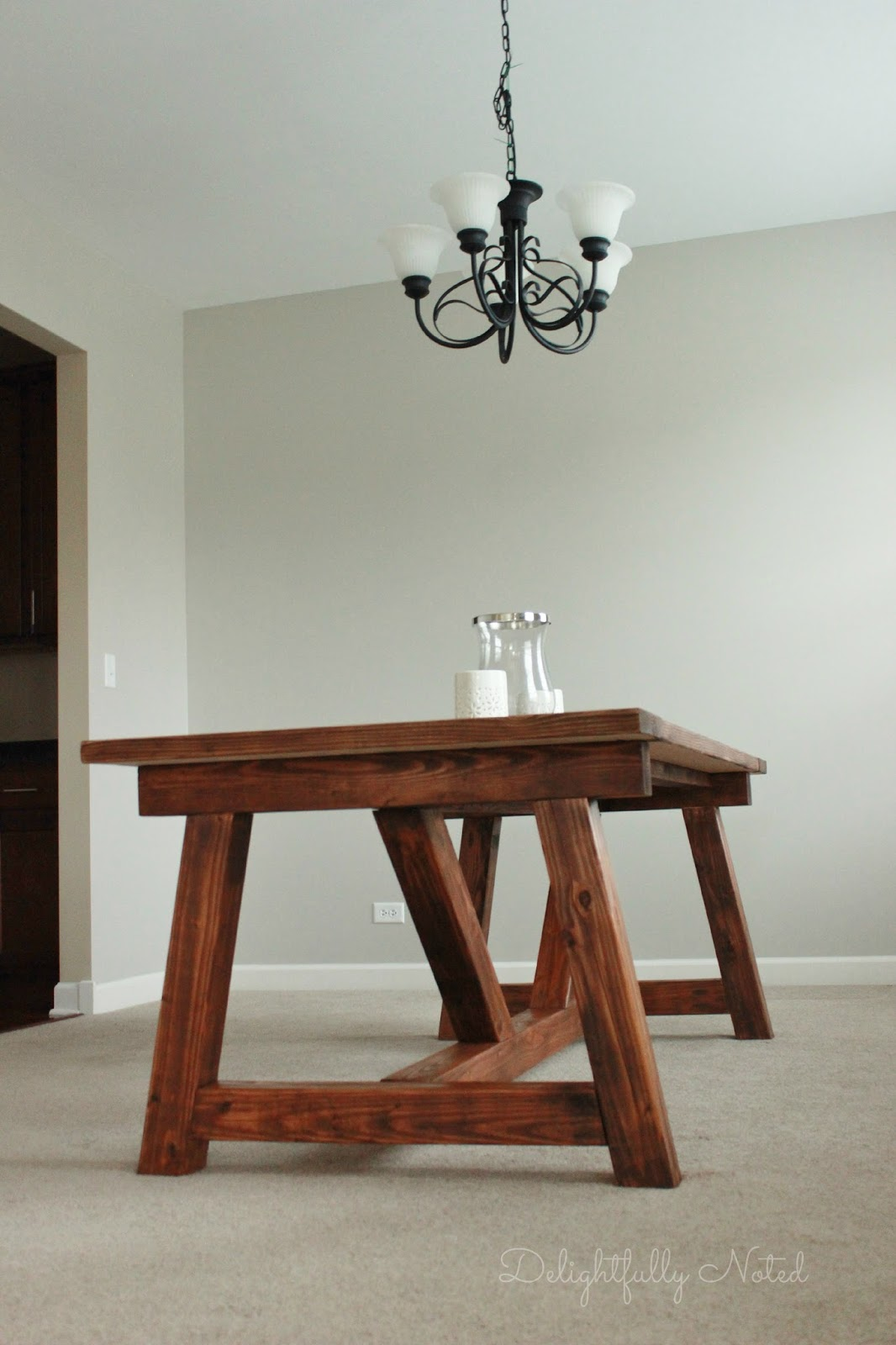 Holy Cannoli We Built A Farmhouse Dining Room Table Delightfully Noted