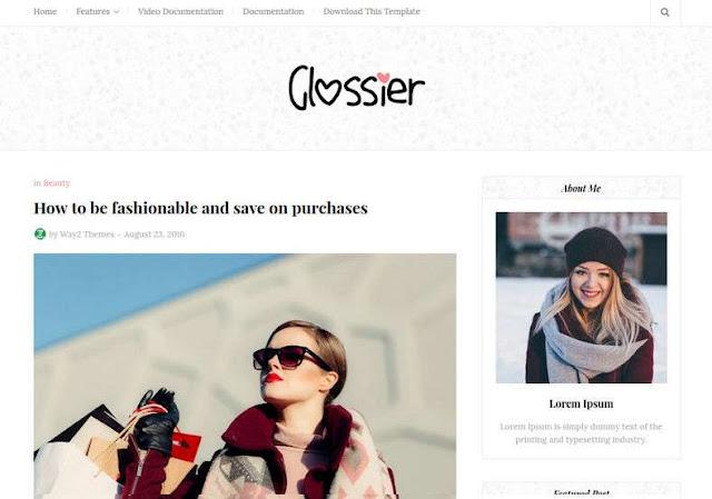 Glossier Blogger Theme