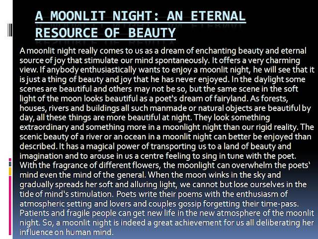 A Moonlit Night: An eternal resource of beauty