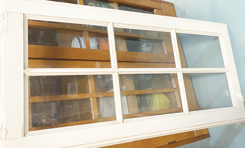 large cabinet window