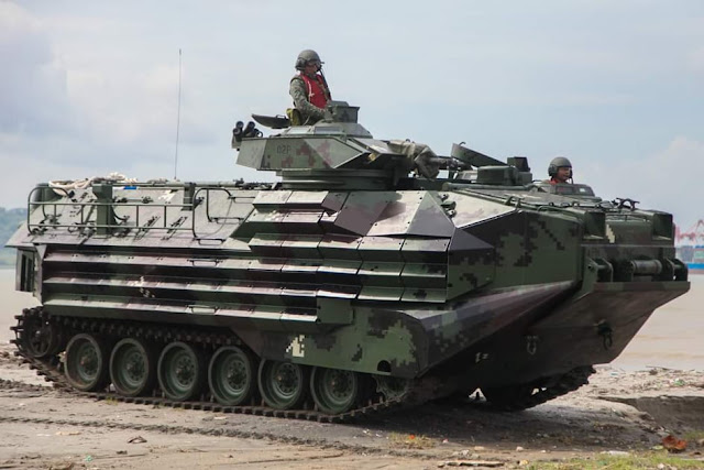 Hanwha Defense KAAV7A1 amphibious assault vehicle of the Philippine Navy (Marines)