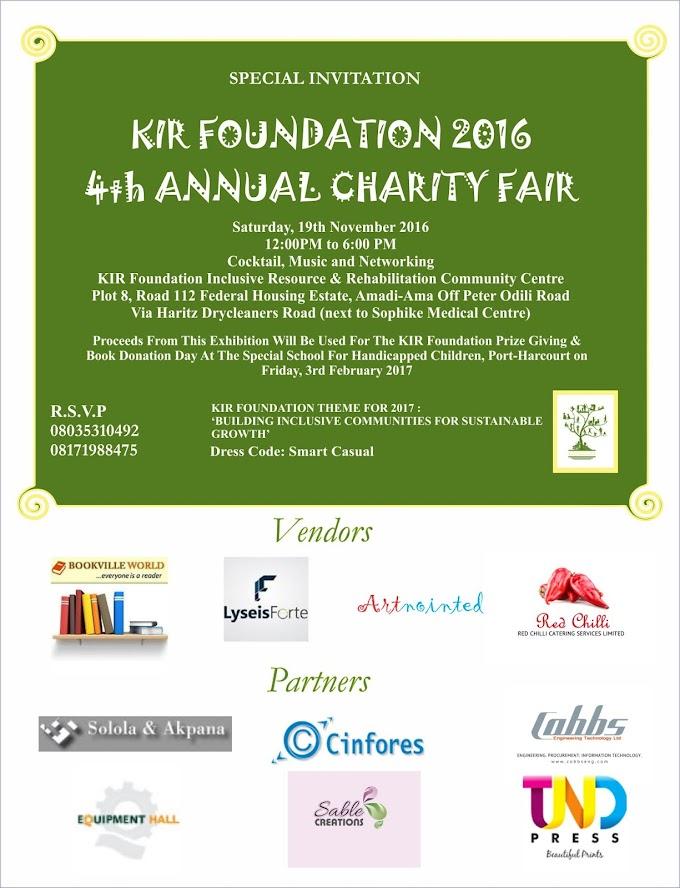 KIR Foundation 4th Annual Charity Fair