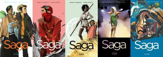 Saga volumes 1 - 5
