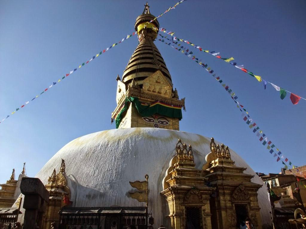 Sightseeing in Swayambhunath