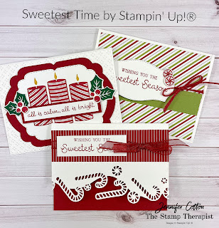 Sweetest Time Bundle by Stampin' Up!.  Video with all three cards on the blog plus a supply list.!  #StampTherapist #StampinUp