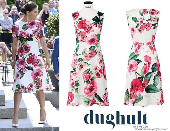 Crown Princess Victoria wore a floral dress from the Swedish Brand Dughult of Sweden