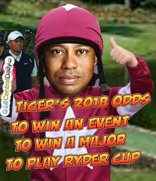 Odds Tiger Woods to win 2018