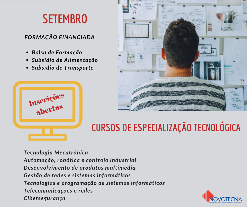 Coimbra – Cursos de especialização tecnológica financiados