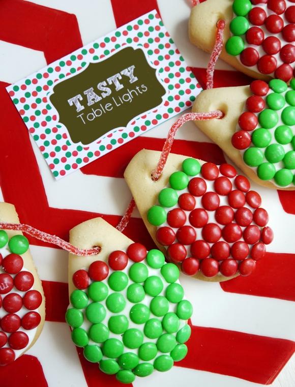 M&Ms Christmas Lights Cookies