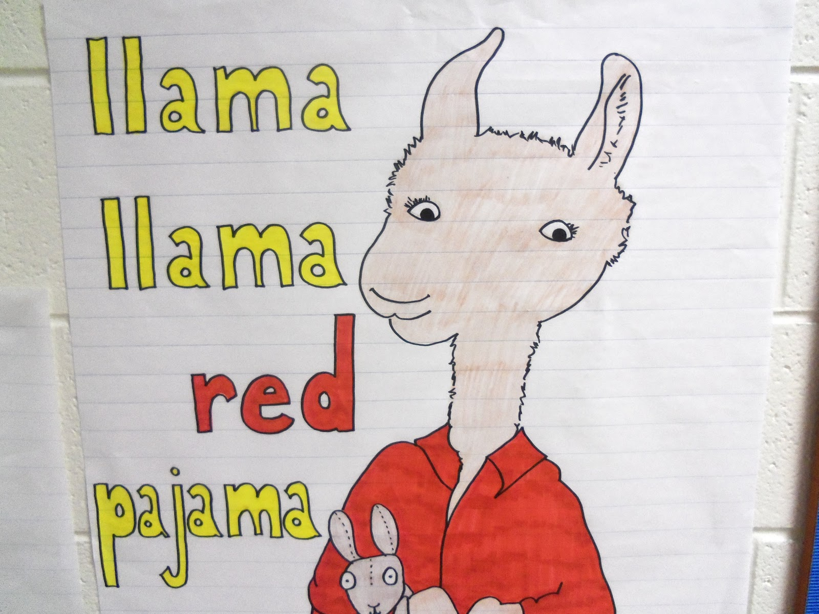 Mrs Urban S Kindergarten Class Llama Llama Red Pajama