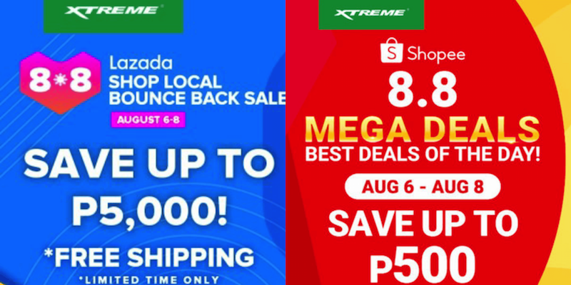 Score up to 40 percent off on XTREME appliances on Lazada and Shopee's 8.8 sale