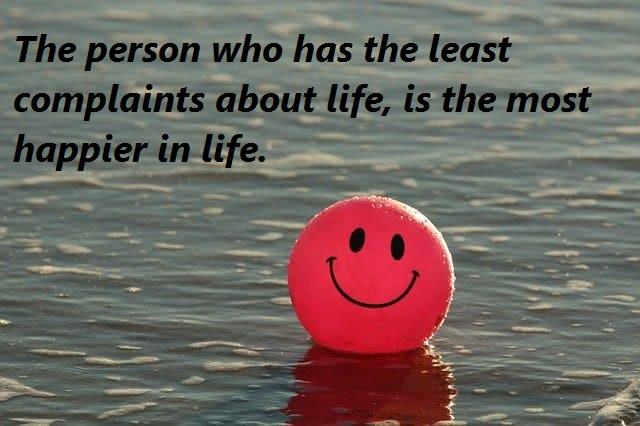 happy person, less complaints