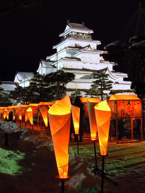 Art Candle Festival, Aizu-Wakamatsu City, Fukushima Pref.