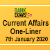 Current Affairs One-Liner: 7th January 2020