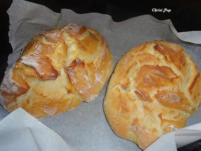 Δυο ξεροψημένα καρβλελια ψωμί μεσα σε μια γάστρα