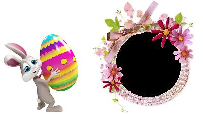 Moldura Páscoa 2016-1 foto-Bunny Egg PNG