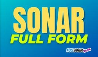 SONAR Full Form