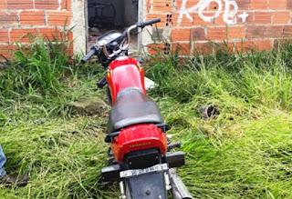 Polícia recupera motocicleta