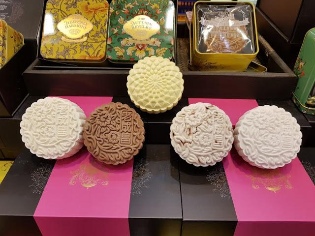 Moon cakes al Takashimaya Food village-Singapore