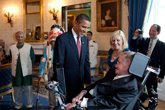 Barack Obama e Stephen Hawking